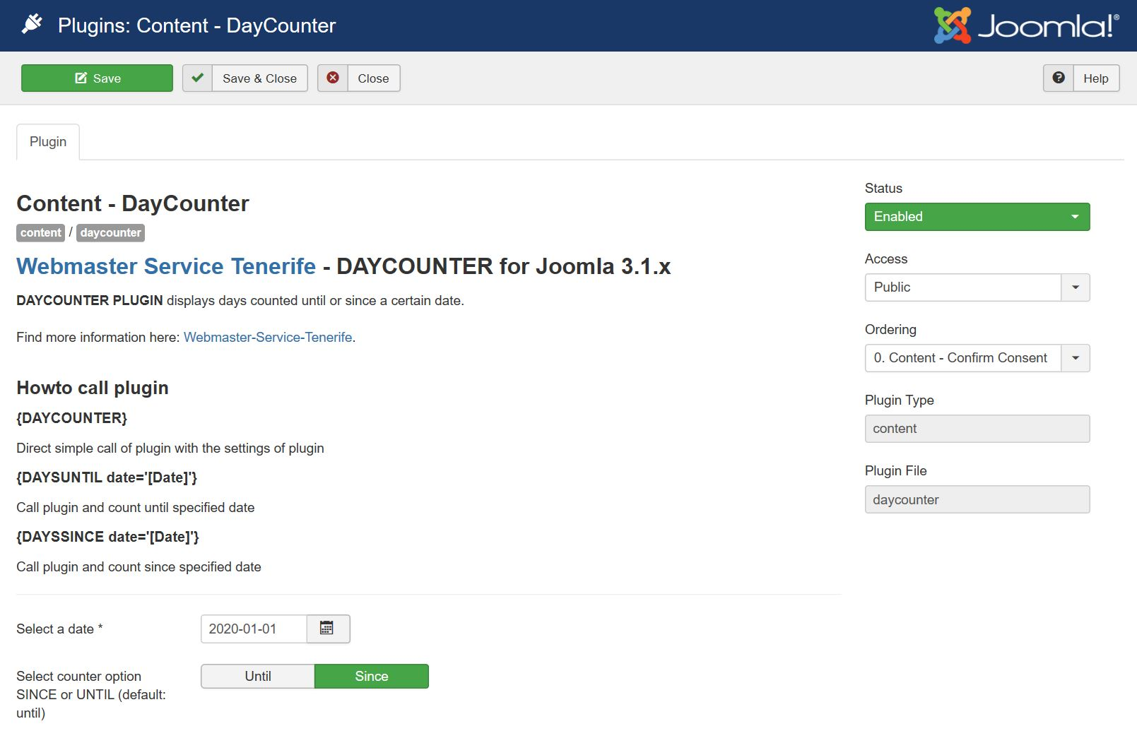 Adjustments Daycounter plugin